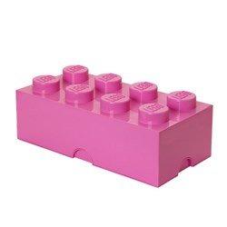 lego caixa decoração e arrumação cor-de-rosa