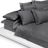 home concept lençol de baixo ajustável 160x200 cinza escuro