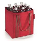 reisenthel bottlebag saco para garrafas red stripes