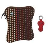 bolsa para portátil 17'' dots castanho com oferta de bolsa para pen cor sortida