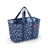 mini maxi basket cesto para compras spots navy