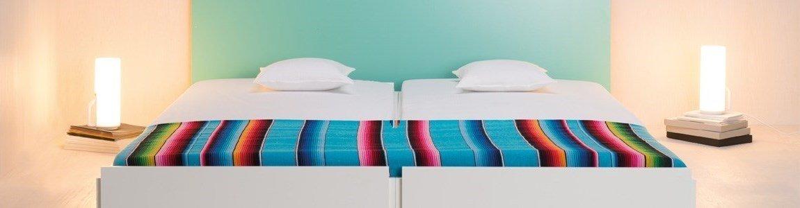 authentics twice double bed white
