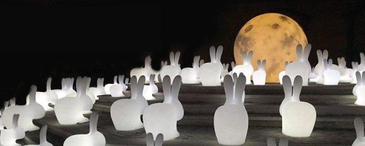 rabbit candeeiro exterior