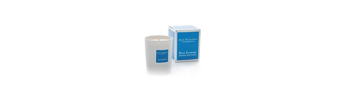blue flowers vela perfumada