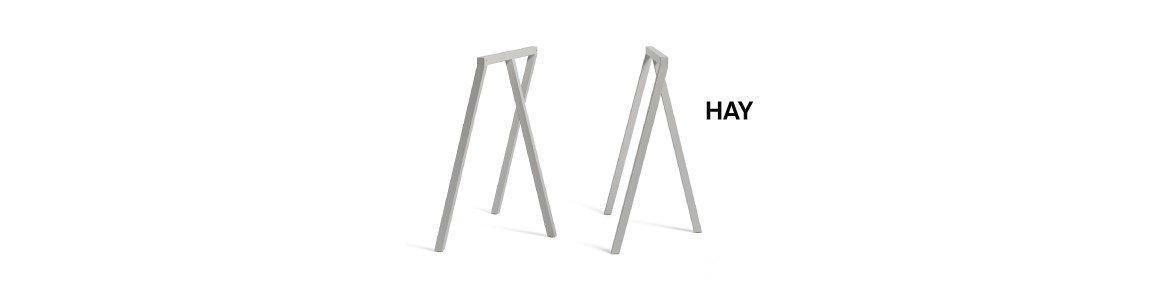hay loop stand frame trestle cinza