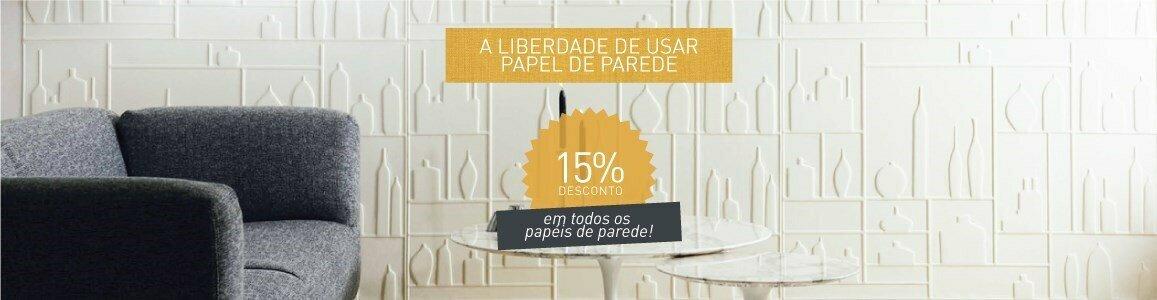 a liberdade usar papel parede em casa