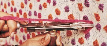 the art of spinning and weaving by hand used in nanimarquina rugs
