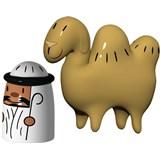 conjunto de duas figuras de natal amir camelus