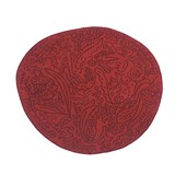 bichos y flores rug red - 127x140