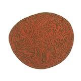 bichos y flores rug orange - 127x140