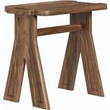 multi stool in walnut