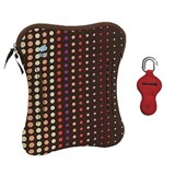 laptop case 17'' dots brown with offer of pen holder assorted color