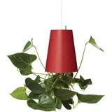 vaso em plástico vermelho médio