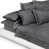 Fitted sheet dark grey 90x200