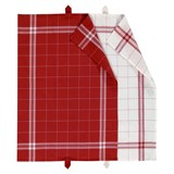 cook set of 2 tea towels red