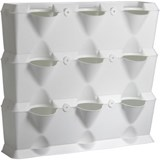 planter minigarden white set of 3 planters