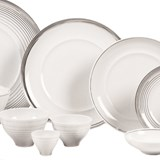 accent platina dinner set of 70 pieces