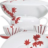 fall tea set of 15 pieces