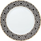 art deco set of 6 table plates
