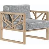 Tree lounge chair in oak