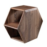 hexa coffee table in walnut