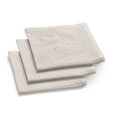 set of 3 dishcloths sand 30x30cm