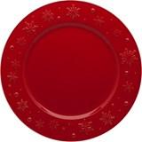 Bordallo Pinheiro Snowflakes set of 2 charger plates red