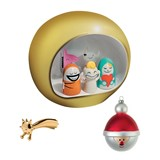 pack presepe, stella stelina and offer of a christmas bauble