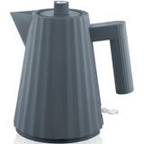 plissé electric kettle grey