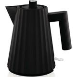 plissé electric kettle black