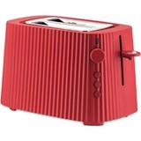 plissé toaster with racks red