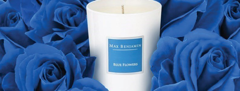 blue flowers vela perfumada 190gr en