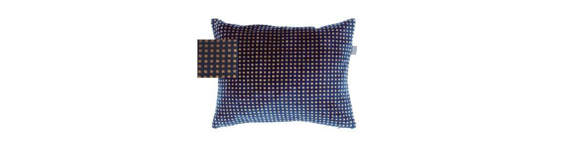 golden blue almofada decorativa