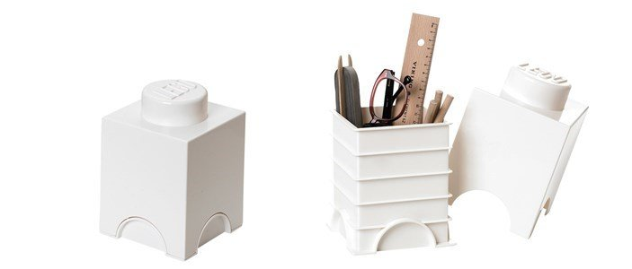 lego storage brick white