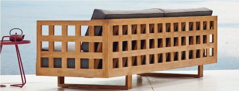 square sofa 3 lugares cane line dois