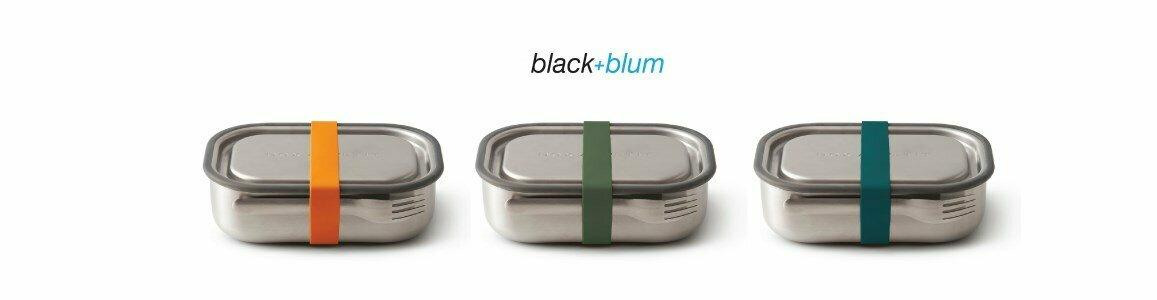 black blum stainless steel lunch box
