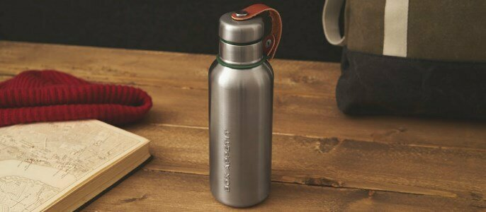 black blum stainless steel insulated water bottle