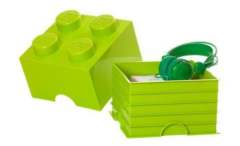 lego storage brick 4 green
