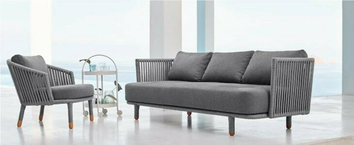 moments sofa 3 lugares caneline
