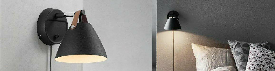 nordlux bjorn balle strap 15 wall lamp en