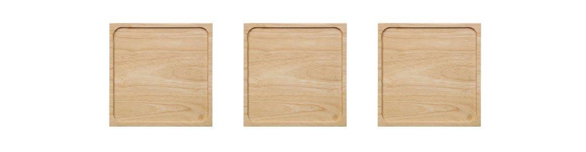 tabuleiro em madeira black tea en