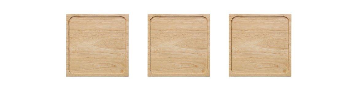 tabuleiro em madeira black tea