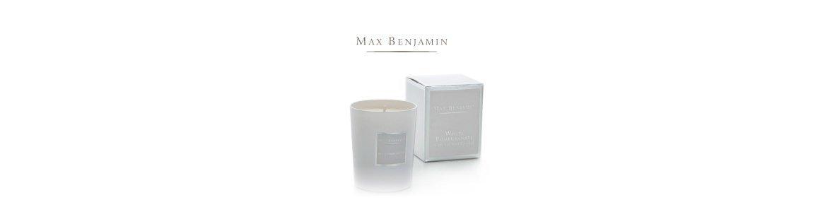 white pomegranate vela perfumada en